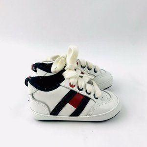 Tommy Hilfiger Flag Baby White Crib Shoes 3-6 mo 2